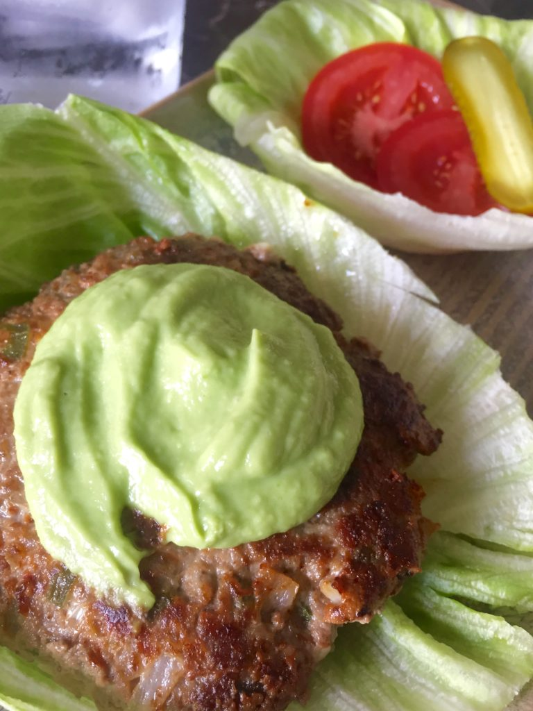 Jalapeño + Guacamole Lettuce Burgers