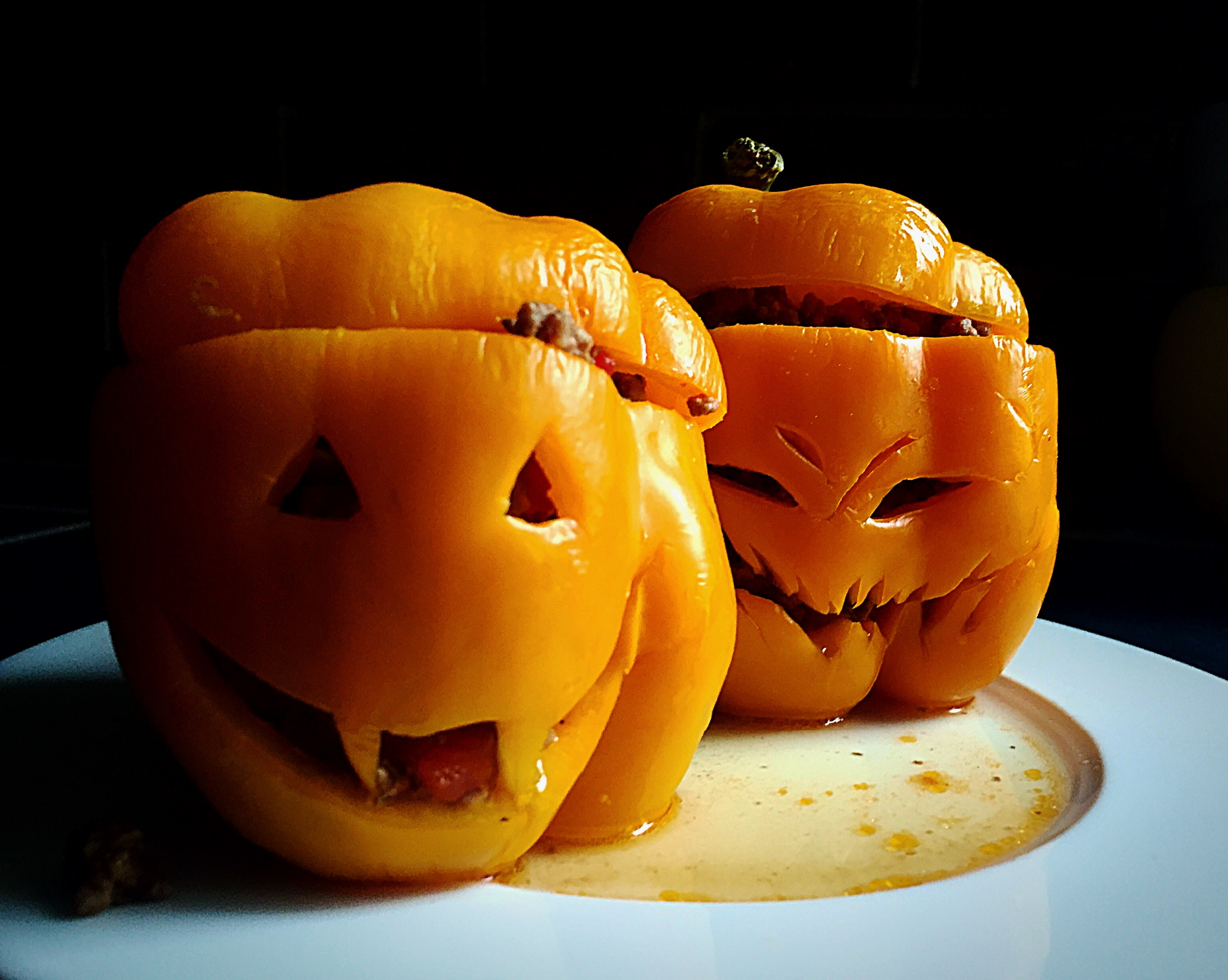 Jack O'Lantern Stuffed Peppers Thumbnail