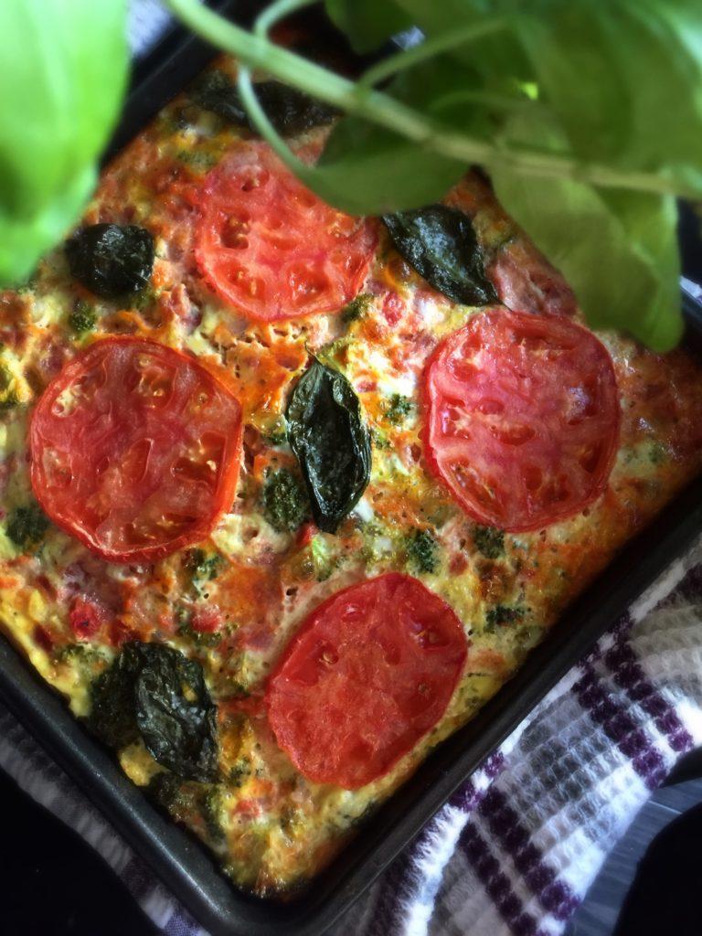 Baked Bruschetta Omelette
