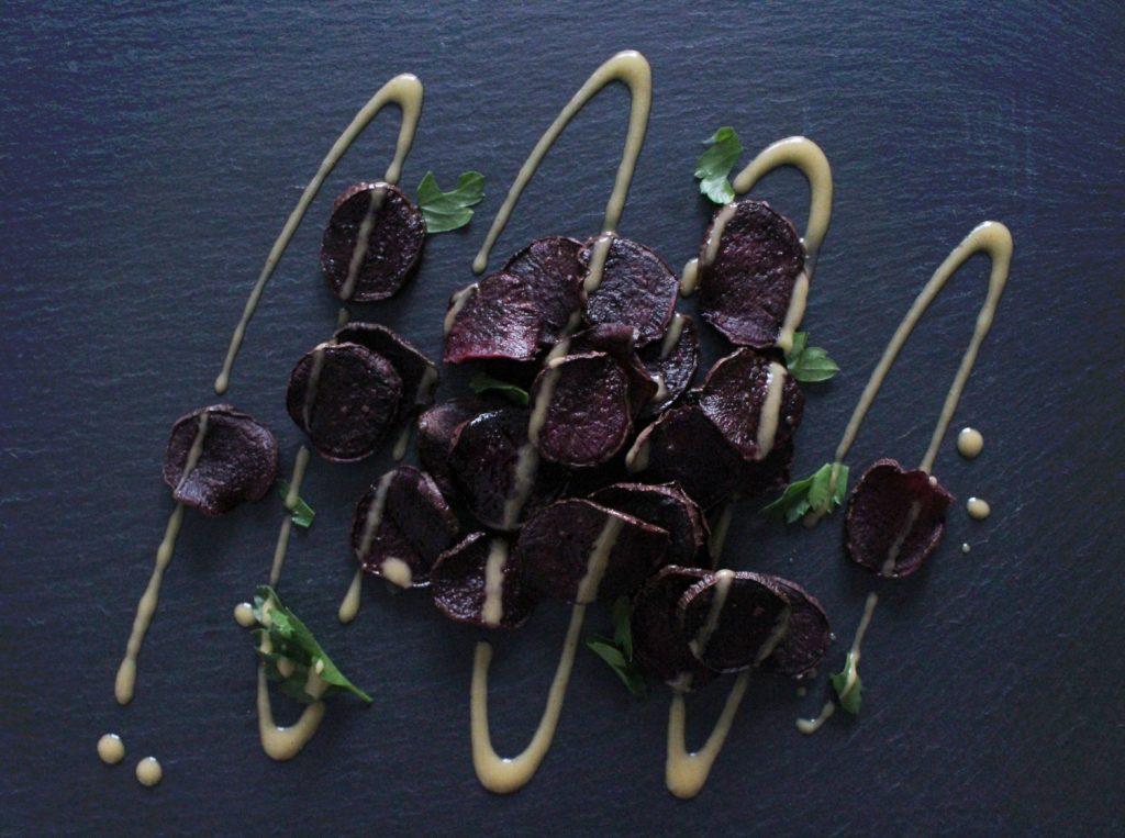 Purple Sweet Potato Chips & Dip