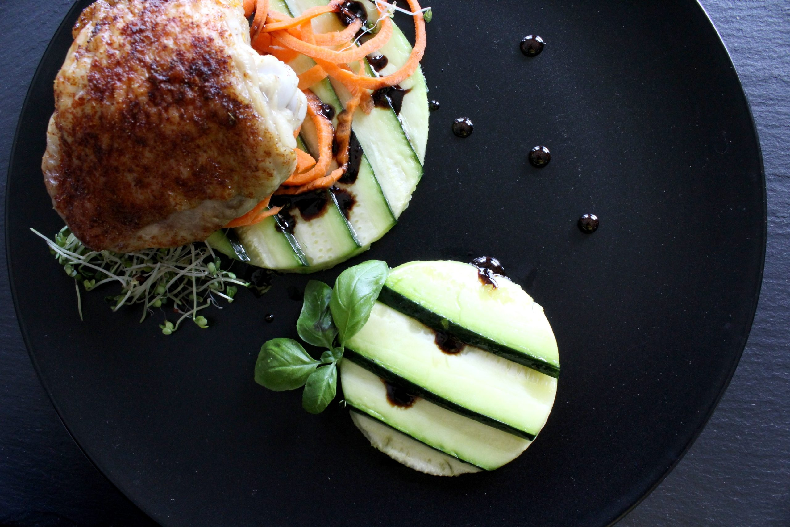Chicken & Zucchini with Balsamic Reduction Thumbnail