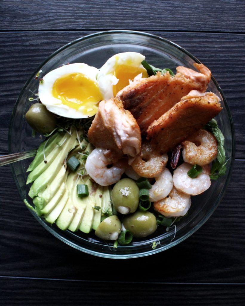 High Fat Salmon Salad