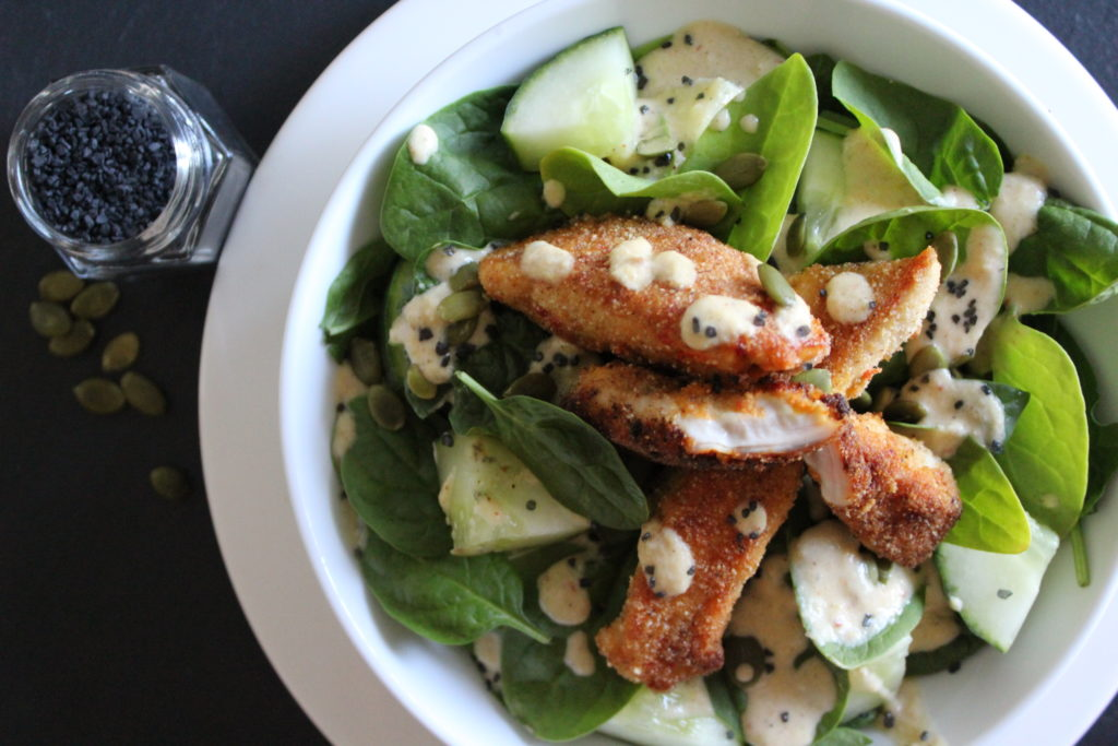 Chicken & Hummus Salad
