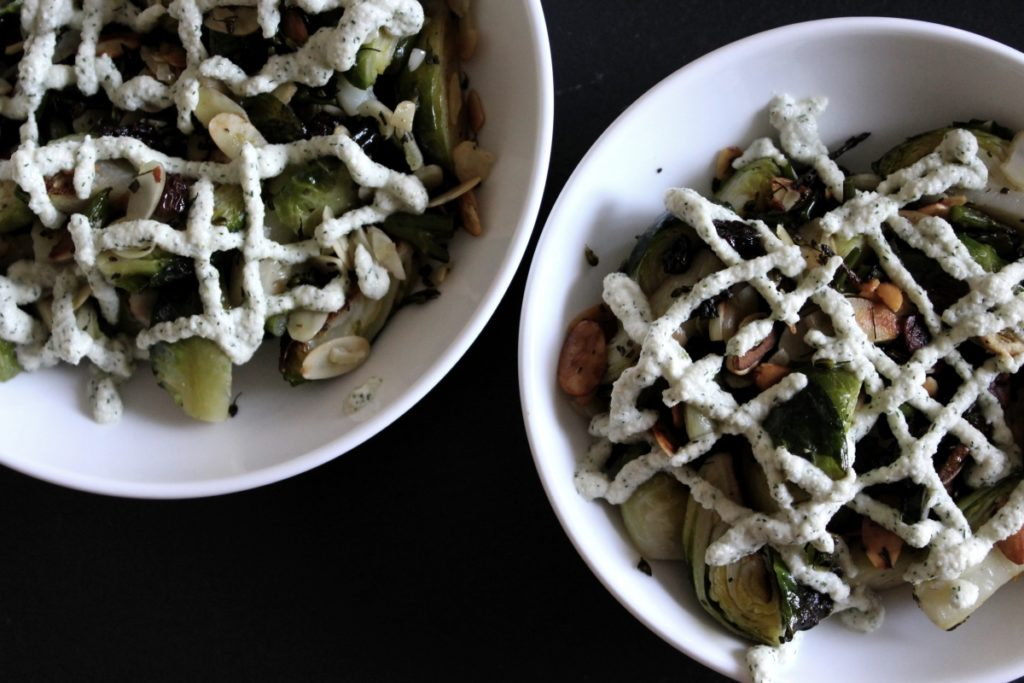 Brussels Sprouts + Dill Sauce