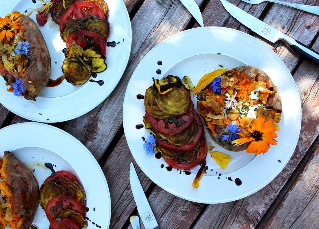 Decorated Sweet Potato